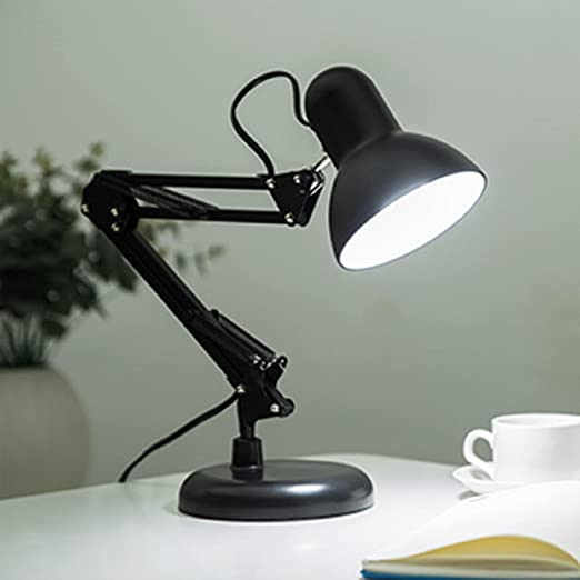 AMZH Lámpara de Escritorio Flexible Largo Swing Brazo LED lámpara ...