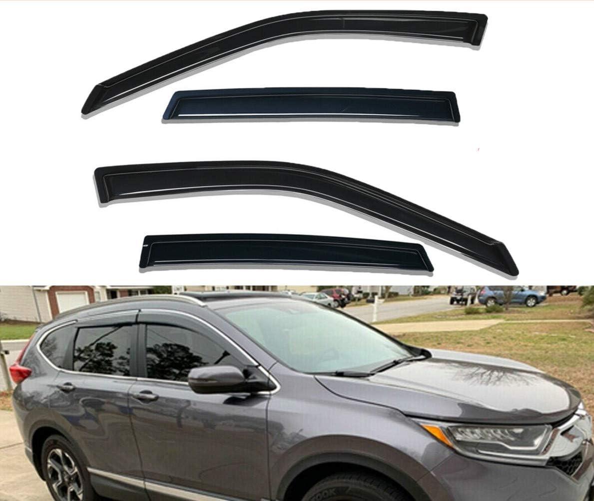 4-Piece Set for 2017-2018 Honda CR-V Auto Ventshade 94269 Original Ventvisor Side Window Deflector Dark Smoke