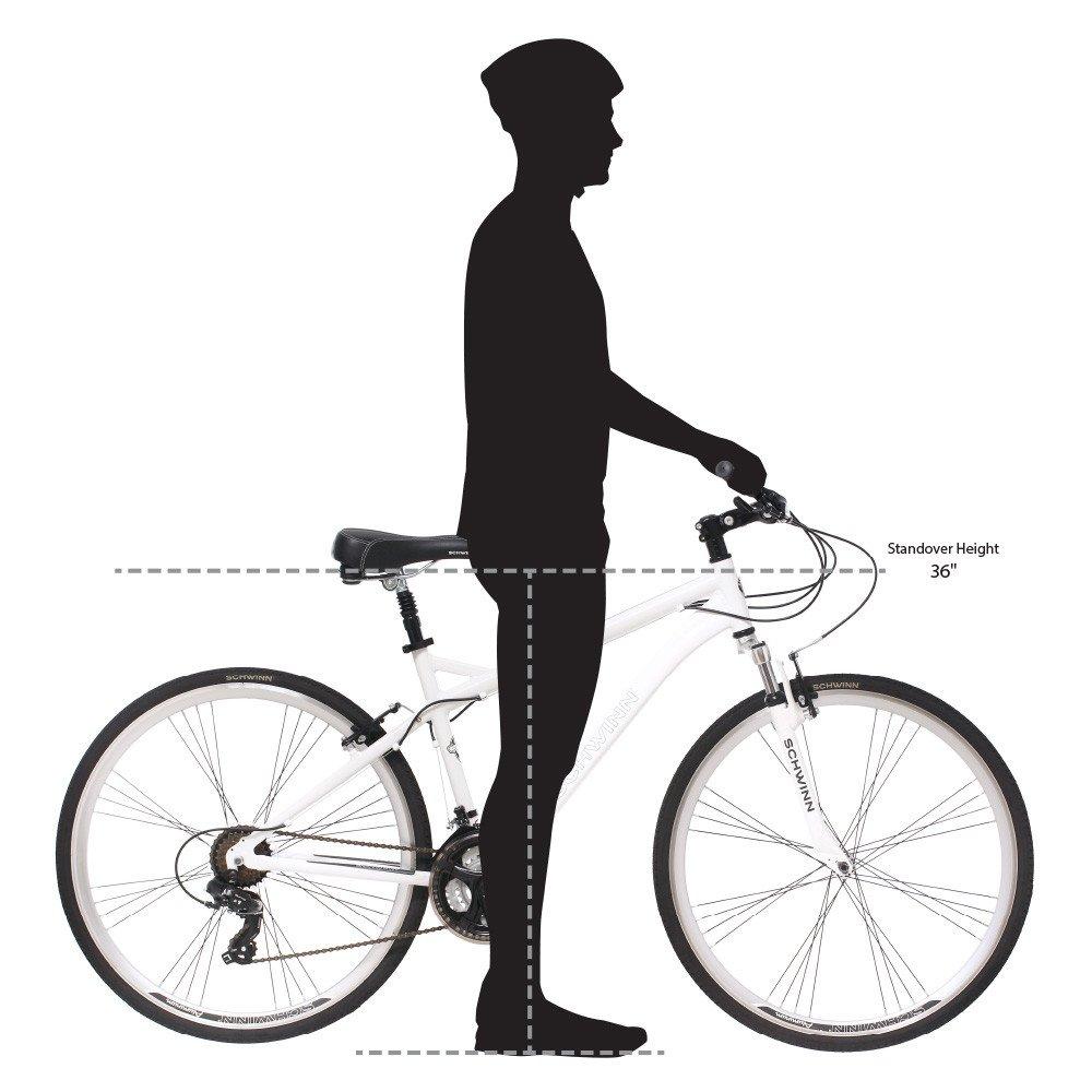 Schwinn Men's Network 3.0 700C Wheel Men's Hybrid Bicycle White, 18' Frame size by Schwinn (Image #6)