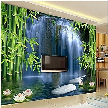 Lqwx Papel Tapiz 3D 3D Murales De Estilo Nuevo Televisor 3Dwallpaper Fondo Tela De Seda De Bambú 3D Wallpaper Agua Moderno Papel De Pared-350cmX245cm: Amazon.es: Bricolaje y herramientas