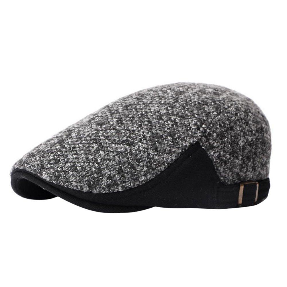 iTemer Moda Negra Costura de algodón de los Hombres otoño e Invierno Gorras  adecuadas para el 52e5dca6440