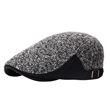 Leisial Unisex Adult Felt Beret Hat Cotton Material Solid Color for Autumn  or Winter Stylish Adjustable cd2df14777a8