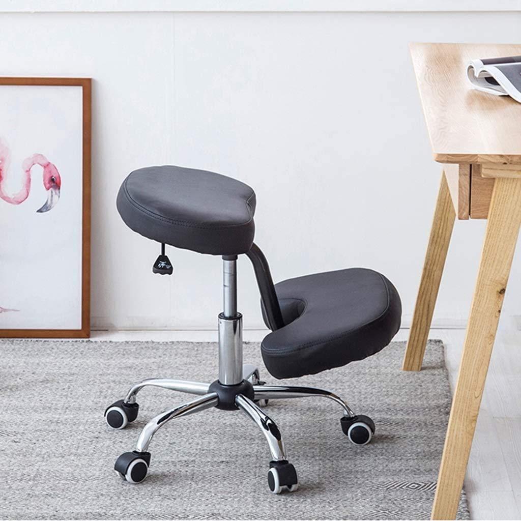 XXCC Barnens hållningsstol med glidhjul knådande pall ergonomisk pall hållning lyftstol kreativ barn lärande säte vardagsrum sovrum justerbar sits Svart Grått