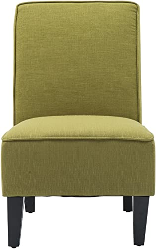 Armless Accent Chair Living Room Chairs Upholstered Chair Green