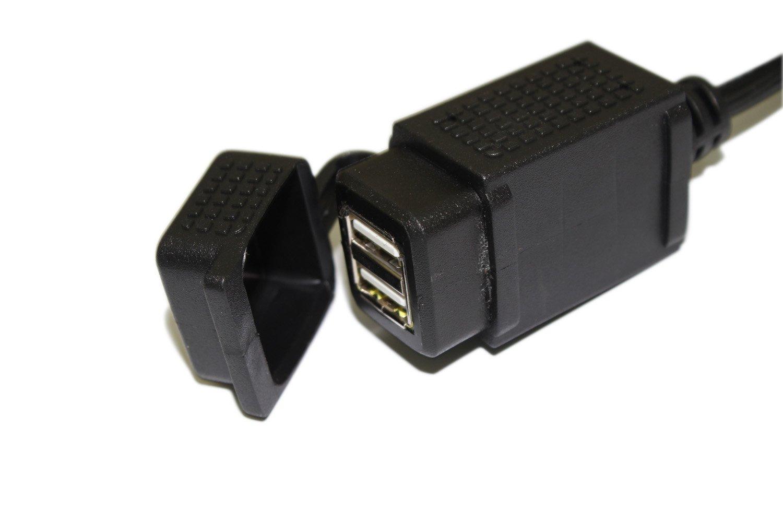 Amazon.com: cllena 12 V 2.1 A Dual 2 puertos USB Power ...