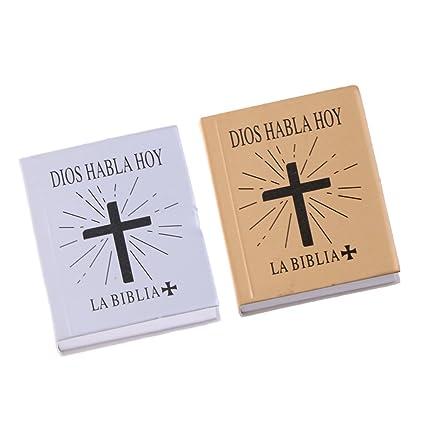 Amazon.es: D DOLITY Premium Libros Biblia para Casita de ...