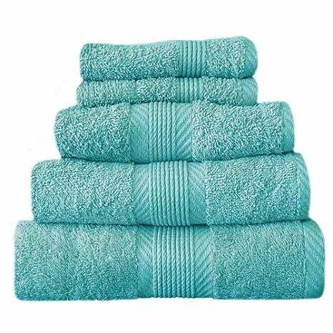 Catherine Lansfield Home 100% algodón toalla de mano, Aqua: Amazon.es: Hogar
