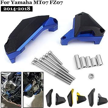 Motorbike Engine Guard Cover Crash Pad Frame Sliders Protector For Yamaha MT-07 FZ-07 2014-2018 Black