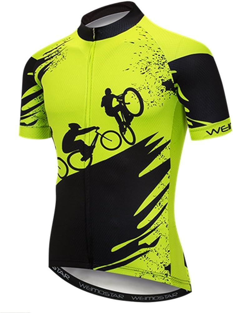 Sportswear Cycling Jerseys Short Sleeve Bike Clothing Bike top Men MTB Jersey Breathable Summer Black