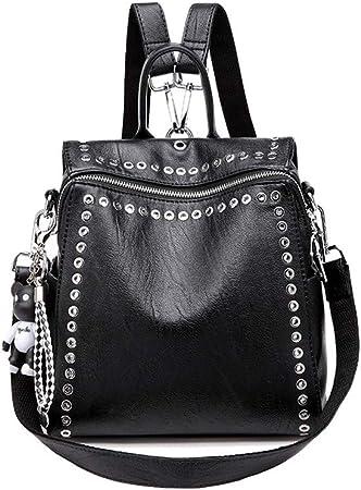 Borsa a tracolla in pelle con borchie Donna, Nero | TWINSET