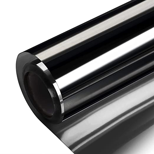 Solar One Way Reflective Mirror Privacy Window Film Stop Heat Sticker 30*100 BG