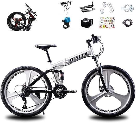 XHCP Bicicleta de montaña, Bicicleta de montaña Plegable de 26 ...