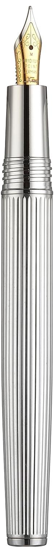 /Pluma estilogr/áfica Xezo Incognito/ tap/ón de rosca Incognito de diamante plata de ley 925/F punta media plata de ley 925,