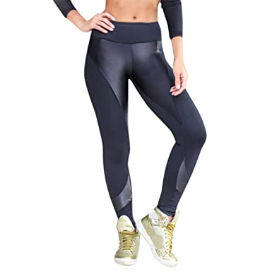 4a1dc334e197b YKA yoga pants Womens Yoga Pants,YKA,Girl Patchwork Elastic Leg Sport  Casual Pants Trousers Leggings for Ladies (XL, Black): Amazon.co.uk:  Clothing