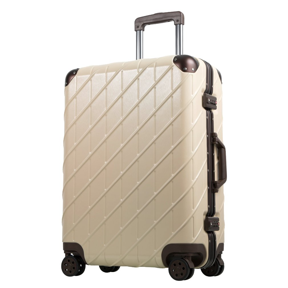 Besteamer Hardside Spinner Luggage Travel Carry-on Expandable Luggage Suit, Lightweight Spinner Trolley Suitcases (24'')