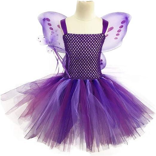 Disfraz de hada para niños pequeños, con mangas y tutú, con alas ...