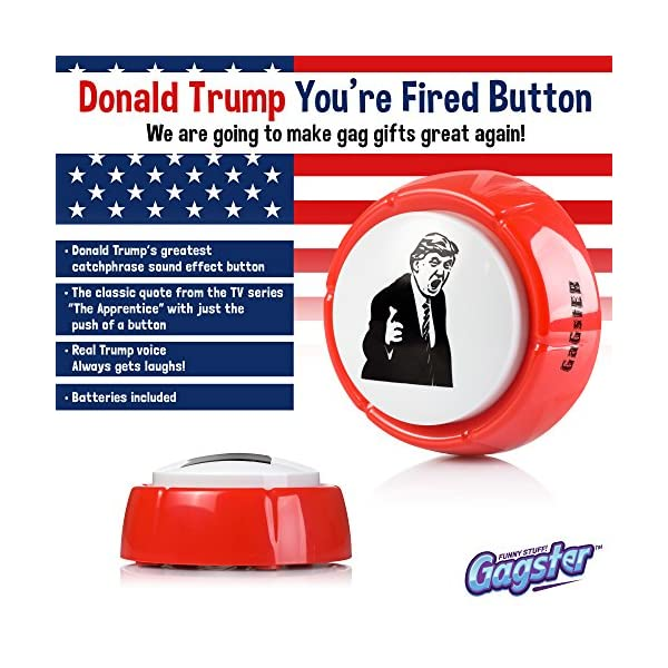 Donald Trump You're Fired Sound Button Gag Toy | Hilarious Red Base