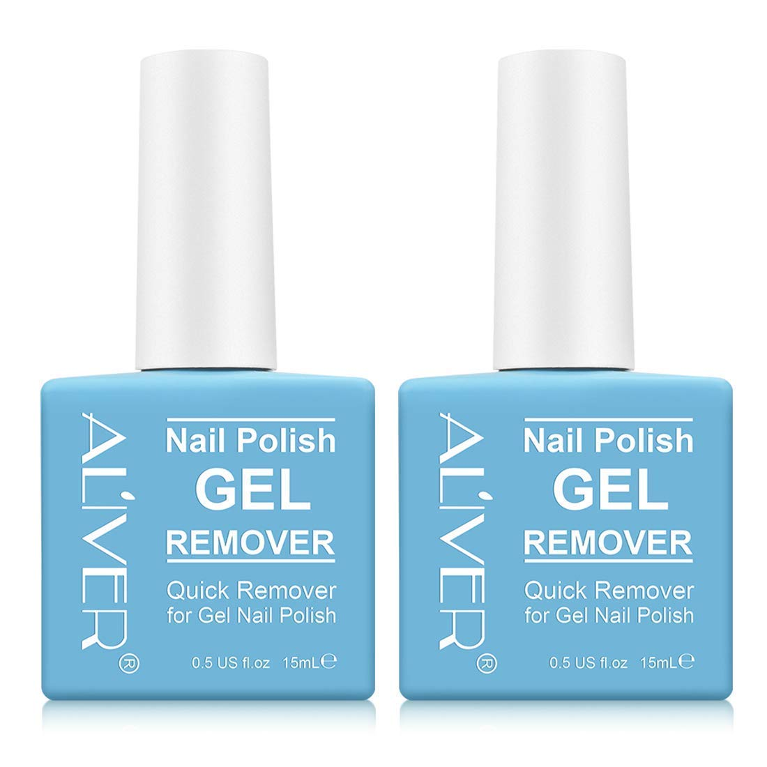 Magic Nail Polish Remover (2 Pack) - Remove Gel Nail Polish Within 2-3 Minutes - Quick & Easy Polish Remover - No Need For Foil, Soaking Or Wrapping, 0.5 Fl Oz
