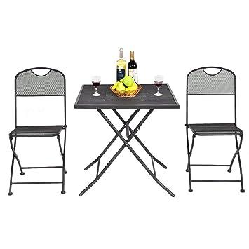 Amazon.com: WenstsKufan Juego de 3 sillas de mesa cuadradas ...