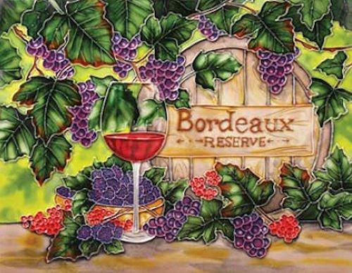 Benaya Ceramic Art Tile - Bordeaux Wine ()