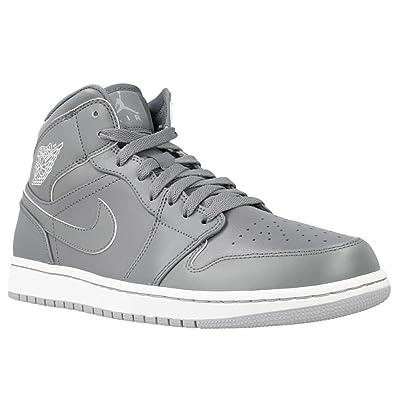 separation shoes 352c0 3ec5a Nike Air Jordan 1 Mid – Chaussures de Sport, Homme - - Gris, 48