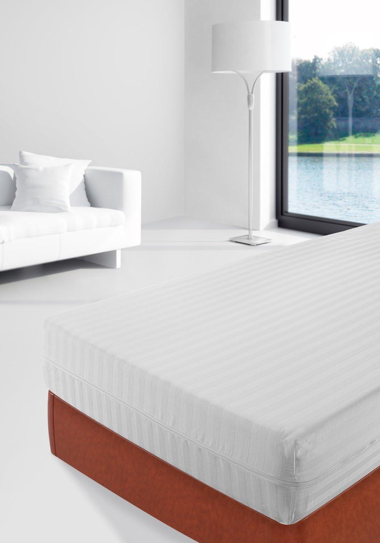 SAVEL, Funda colchón 100% algodón listado, 135x190cm (para Camas ...