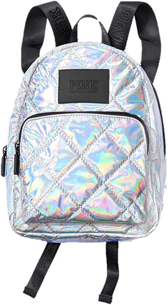 Victoria s Secret Mini Backpack Pink Iridescent Silver Metallic