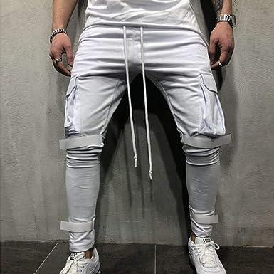 Hombre Pantalones Largos Deportivos chándal de algodón Largo ...