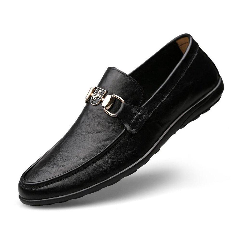 Zapatos de Hombre Hombre Hombre Primavera/otoño Zapatos de Frijoles Zapatos de Hombres Cuero Transpirable Zapatos Casuales Simples Moda Trend Soft Bottom Zapatos de conducción Holgazanes Mocasines y Slip-Ons 4f4d9d