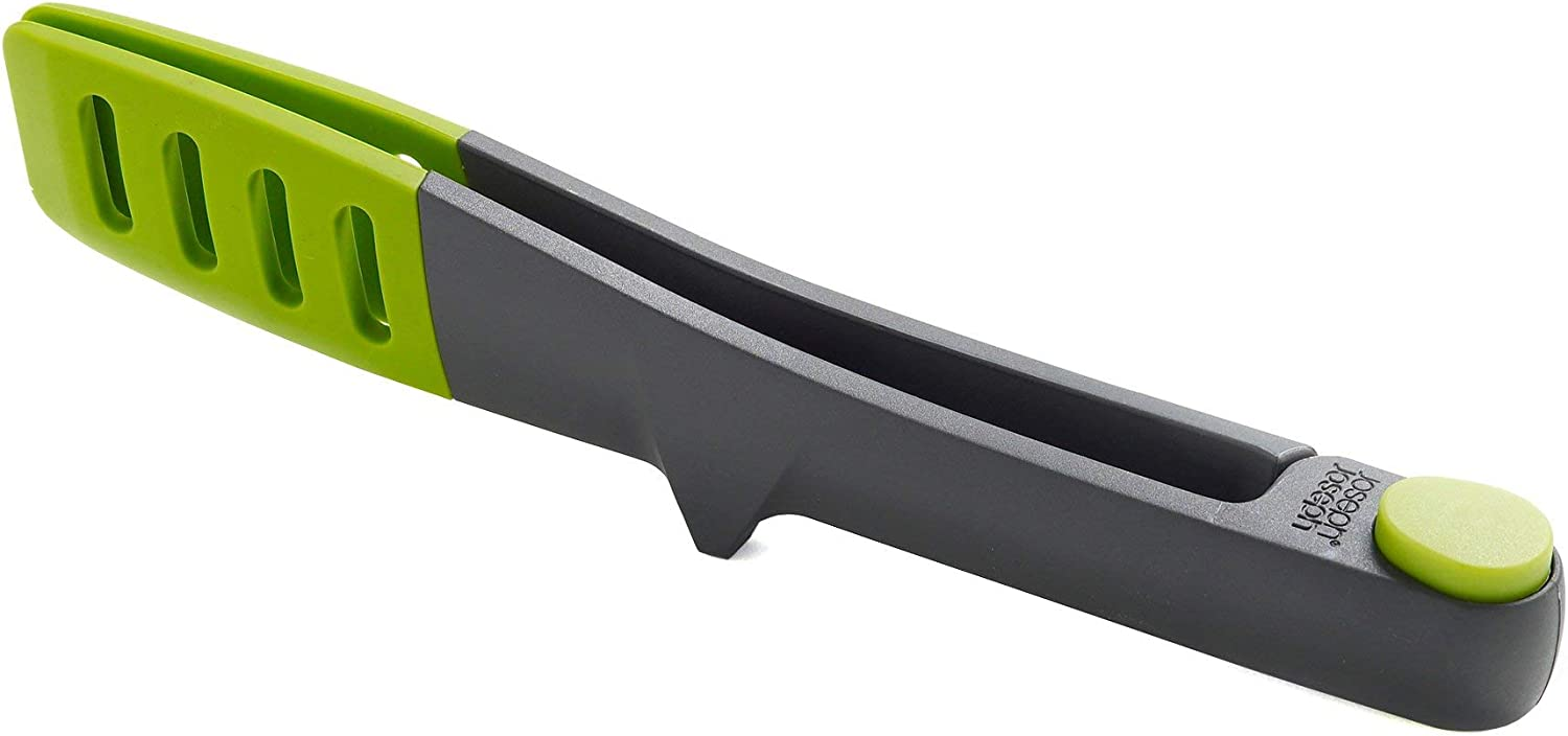 One-Size Gray//Green Joseph Joseph Elevate Stainless Steel Tongs with Silicone Tips