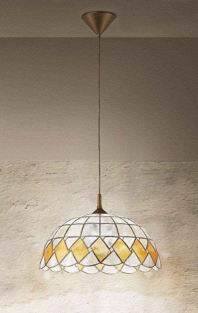 Lámpara de techo marca Perenz, de nácar decorada con pendel ...