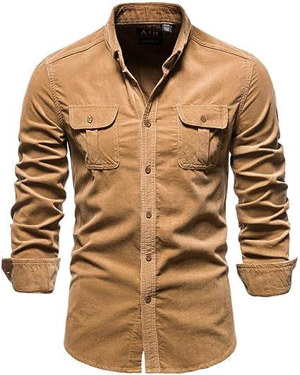 BTXX 2020 Nueva Recta 100% de algodón for Hombres de Camisa ...