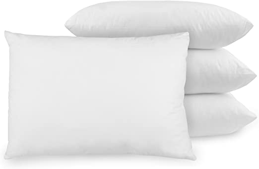 BioPEDIC Antimicrobial bed pillow with Built-In Ultra-Fresh Anti-Odor Technology, 4-Pack, White 4 Count