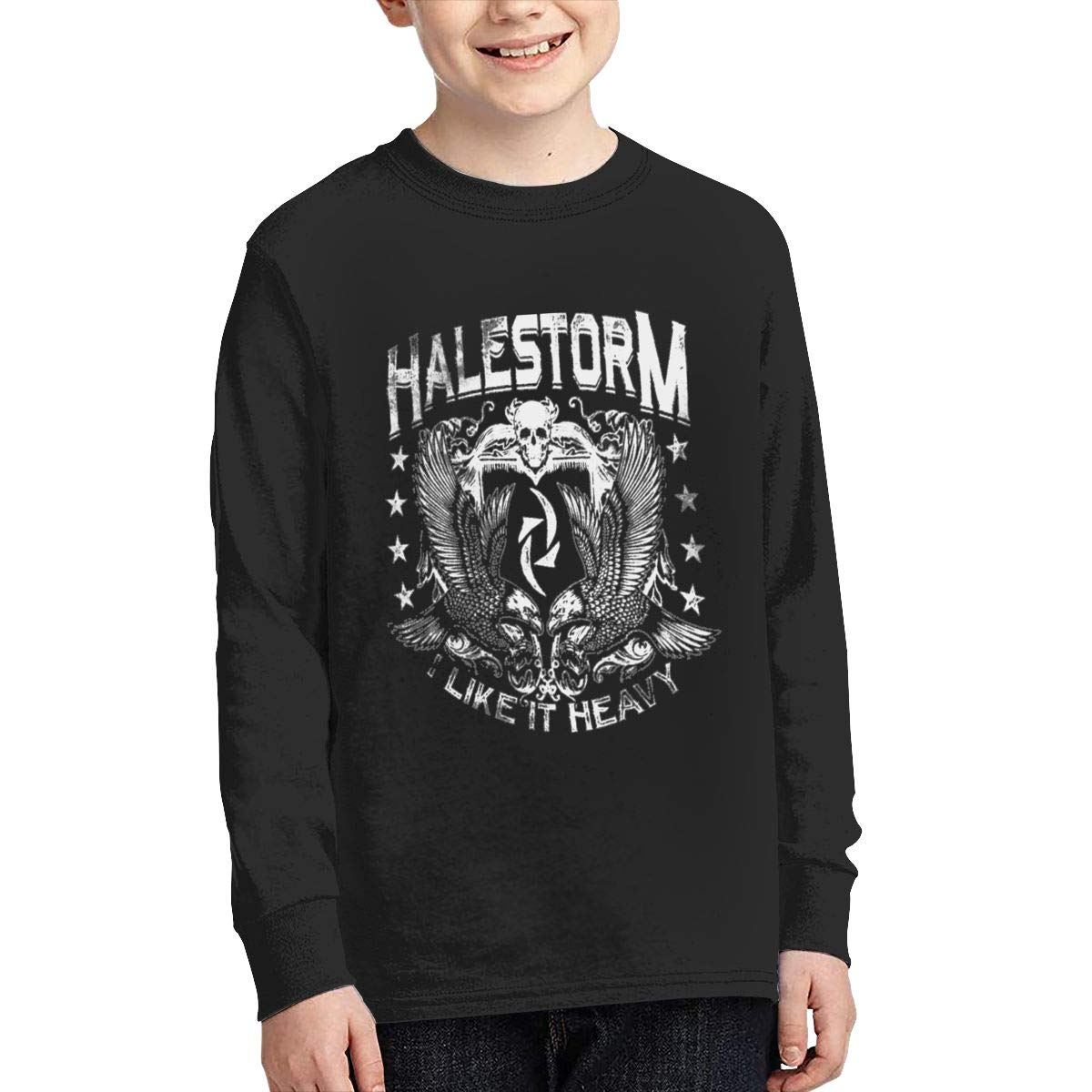 Optumus Halestorm Kids Sweatshirts Long Sleeve T Shirt Boy Girl Children Teenagers Unisex Tee