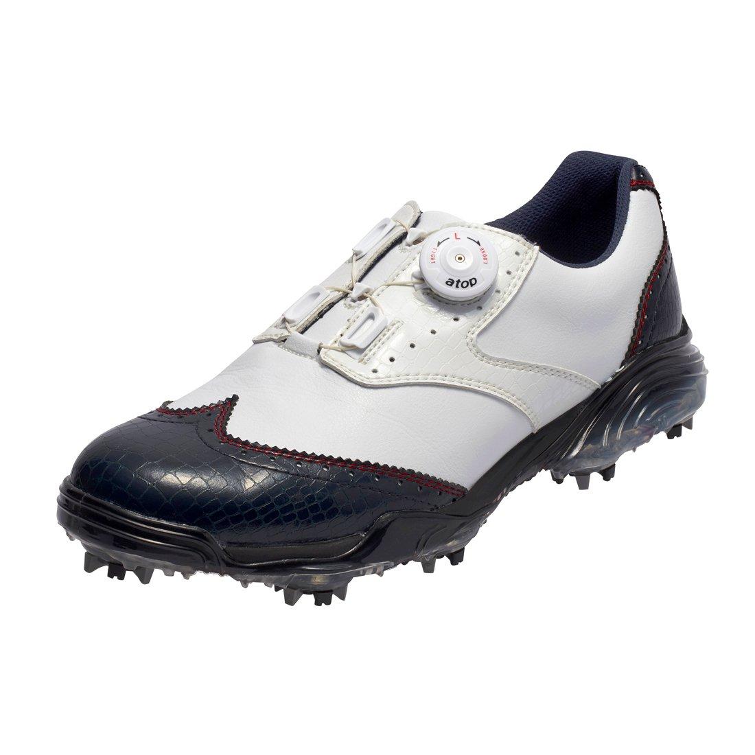 本間ゴルフ HONMA メンズ ウィングチップ ダイヤルシューズ ネイビー/ホワイト 25cm 3E SS-1603 原産国:中国 素材:甲(人工皮革)、底(EVAスポンジ/TPU)   B077MYPJKT