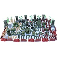 Models Toys,pgmrw23h 170Pcs Soldier Model, Children's Full Set Of Mini Soldiers Sand Table Ornaments With Pvc Storage…