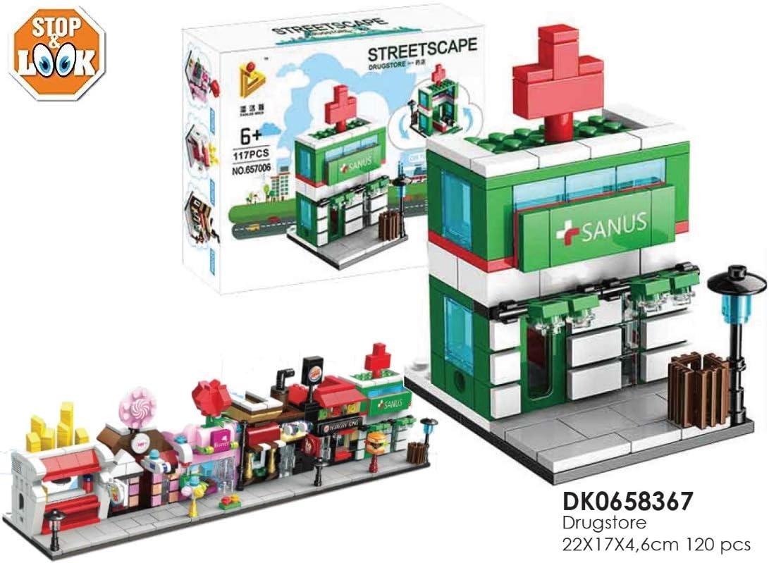 Stop & Look 000658367 - Juego de 120 Piezas de Bloques de Drugstore, dimension-22 x 17 x 4,6 cm, Multicolor: Amazon.es: Juguetes y juegos