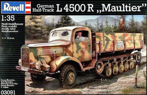 Revell of Germany 1/35 German Half-Track L4500R Maultier Plastic Model Kit