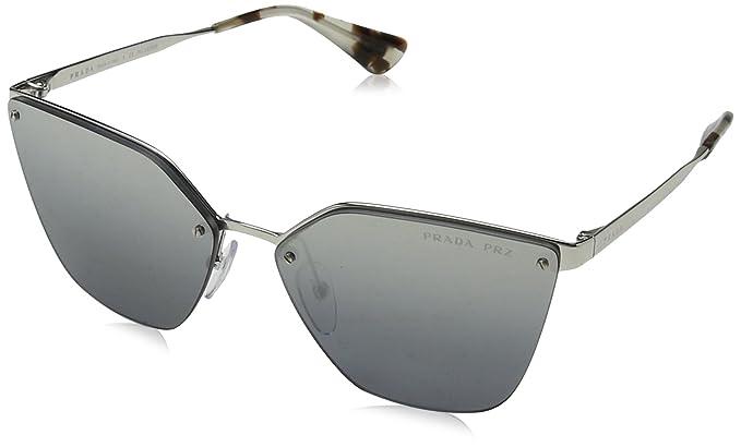 ed3376782a45 PRADA Women s 68TS 0PR68TS 1BC2F2 63 Sunglasses Silver  Greymirrorgradsilverpolar