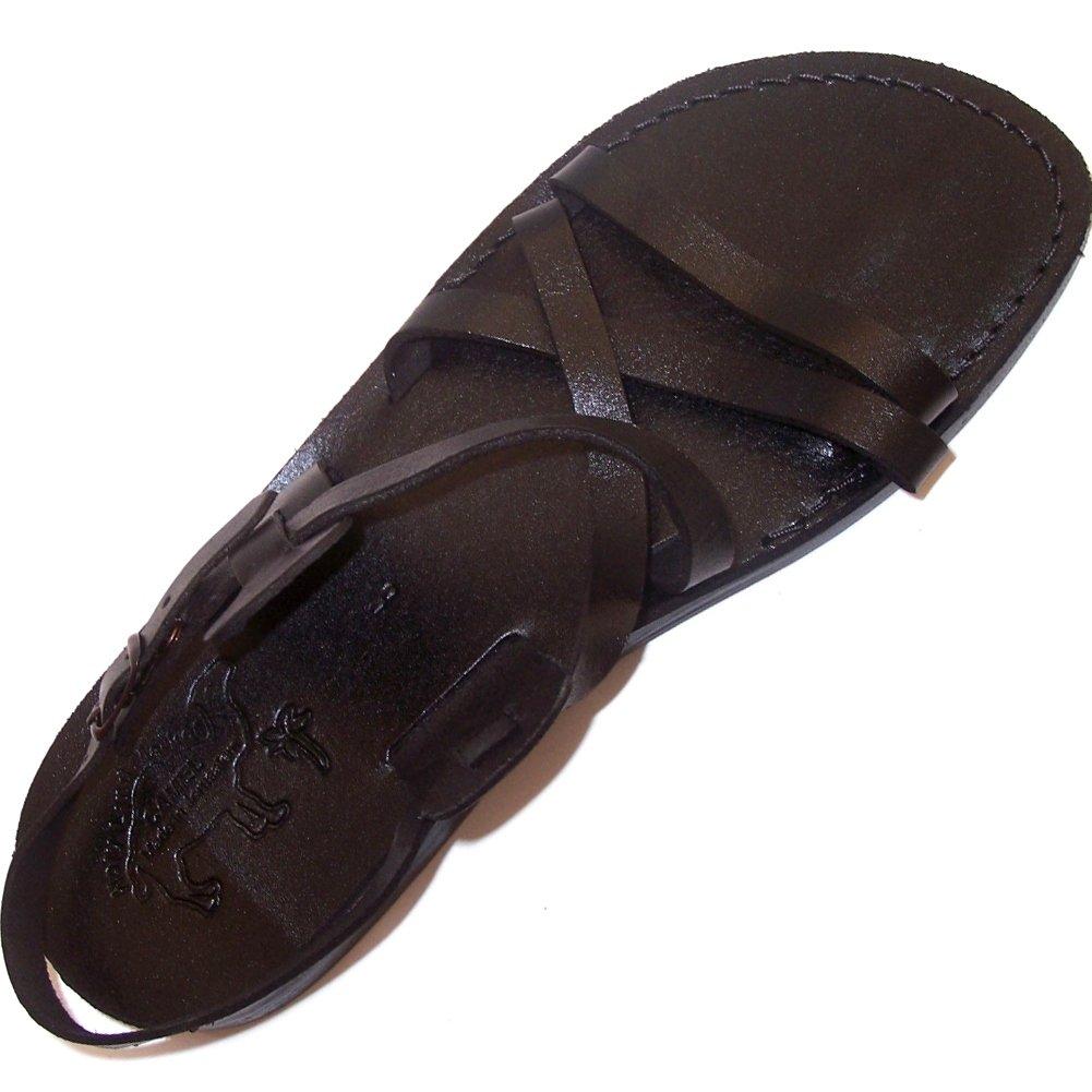 Unisex Genuine Leather Biblical Sandals (Jesus - Yashua) Black Style II - EU 45
