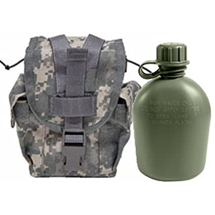 b82547814d8 Military Outdoor Clothing Never Issued U.S. G.I. 1 quart Olive Drab Military  Canteen with Previously Issued U.S. G.I.