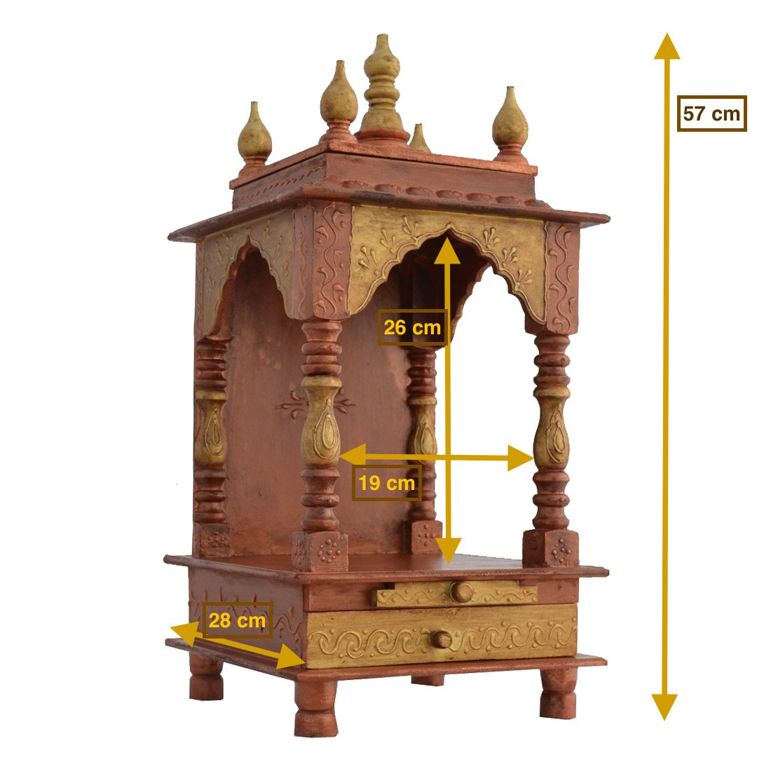 Buy Home Temple/ Office Temple/ Wooden Temple / Office Mandir ...