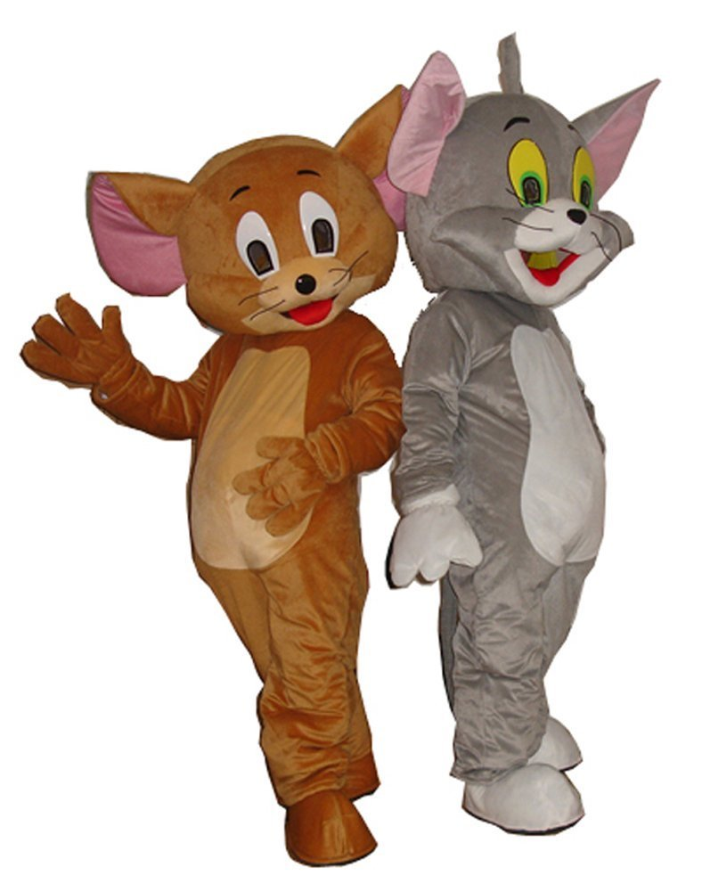 The New Tom and Jerry Cartoon Character Costume Free Shipping (a pair)
