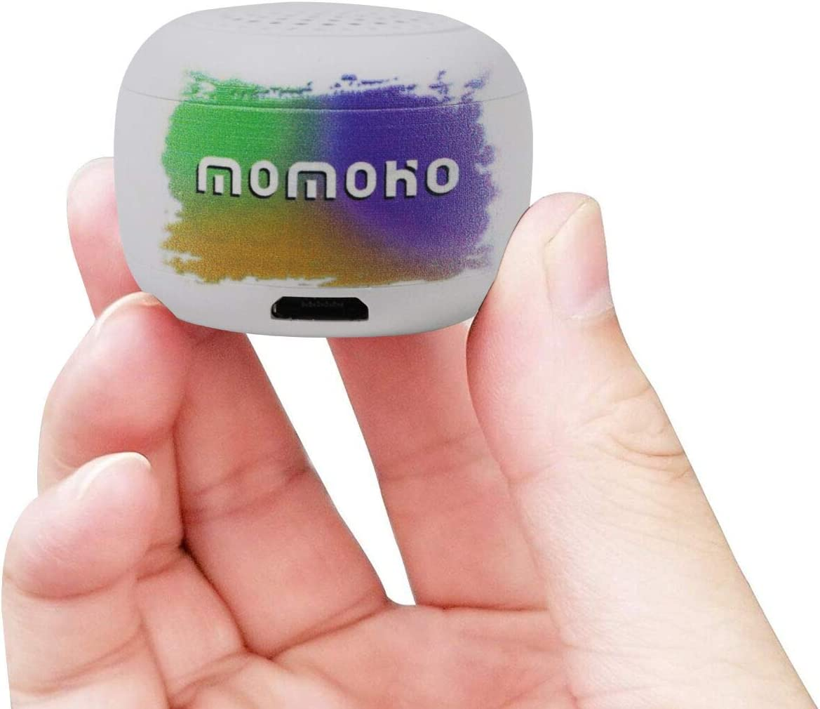 Momoho Mini Bluetooth Speaker - Small Size but Great Sound Quality,Photo Selfie Button & Answer Phone Calls,BTS0011 (White)