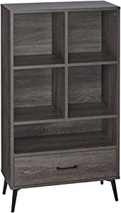 RiverRidge Home Woodbury Collection Storage Cabinet with Cubbies and Drawer, Weathered