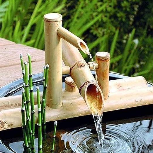 QXTT Fuente De Bambu Exterior Estatuas Fuentes Decorativas Interior Exterior para Jardín Decoración del Hogar Cascada Jardín Japonés Al Aire Libre Característica,40cm: Amazon.es: Hogar