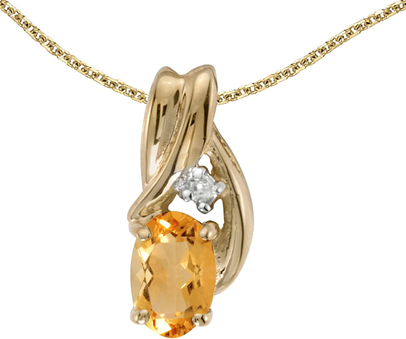 1//5 Cttw. Jewels By Lux 14k White Gold Genuine Birthstone Round Gemstone Pendant