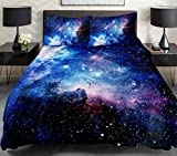 Anlye 4PCS King Size Galaxy Bedding Sets Cotton Bedroom Set With 1 Cotton Sheet 1 Galaxy Duvet Cover 2 Pillowcase for King Comforter,Best Gift Ideas