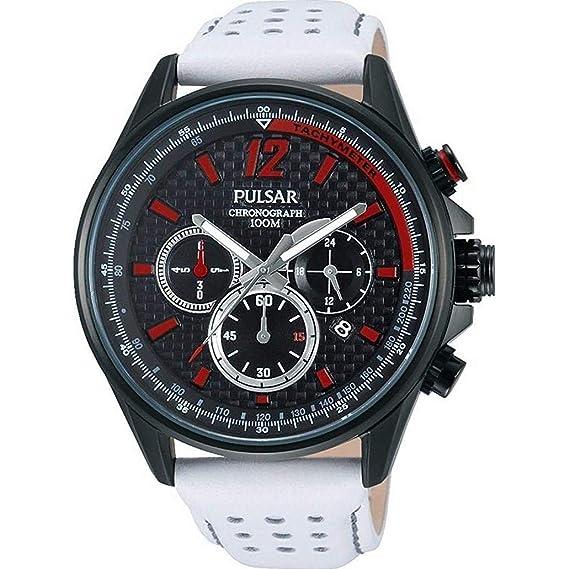 Pulsar Reloj Cronógrafo para Hombre de Cuarzo con Correa en Cuero PT3545X1: Amazon.es: Relojes