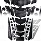 3D 13-Piece Customize Fuel / Gas Tank Pad Protector Decal / Sticker Set Black + Chrome